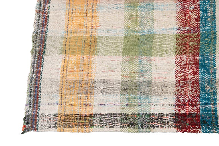 Mid-20th Century Vintage Flat-Weave Rug For Sale 2