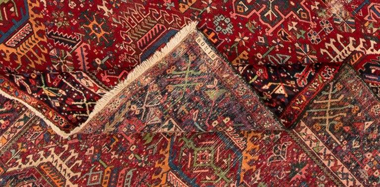 Persian Mid-20th Century Vintage Heriz Rug For Sale