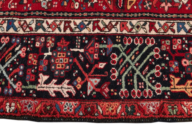 Mid-20th Century Vintage Heriz Rug In Excellent Condition For Sale In Norwalk, CT