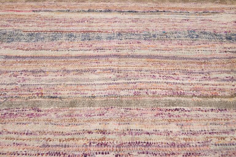 Mid-20th Century Vintage Kilim Wool Rug For Sale 6