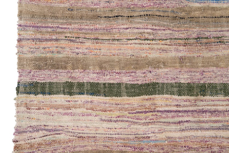 Mid-20th Century Vintage Kilim Wool Rug For Sale 7