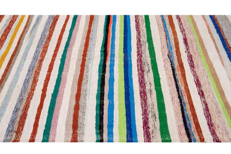 Mid-20th Century Vintage Kilim Wool Rug For Sale 9