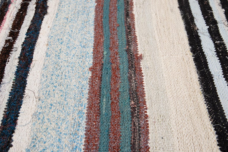 Mid-20th Century Vintage Kilim Wool Rug For Sale 2