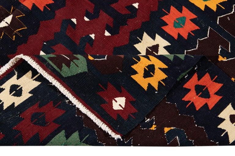 Mid-20th Century Vintage Kilim Wool Rug For Sale 2