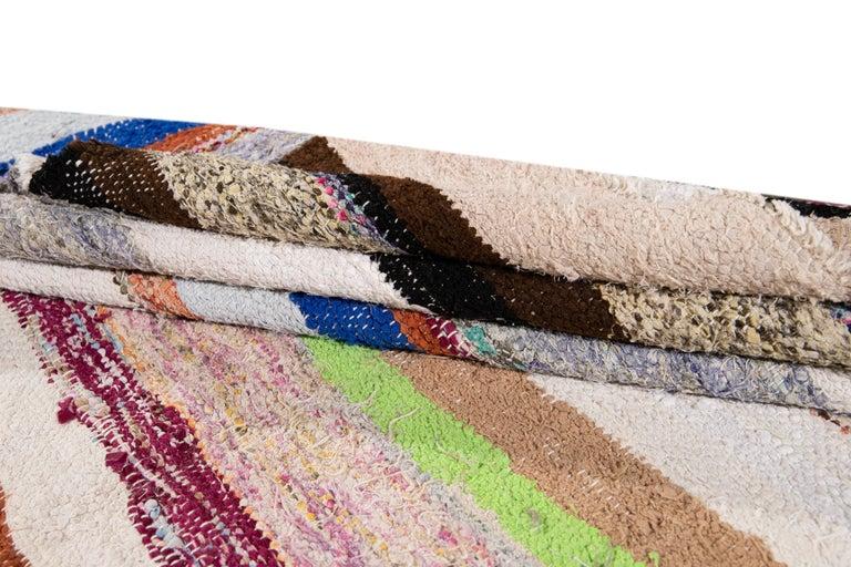Mid-20th Century Vintage Kilim Wool Rug For Sale 3