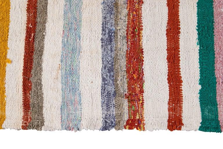 Mid-20th Century Vintage Kilim Wool Rug For Sale 4