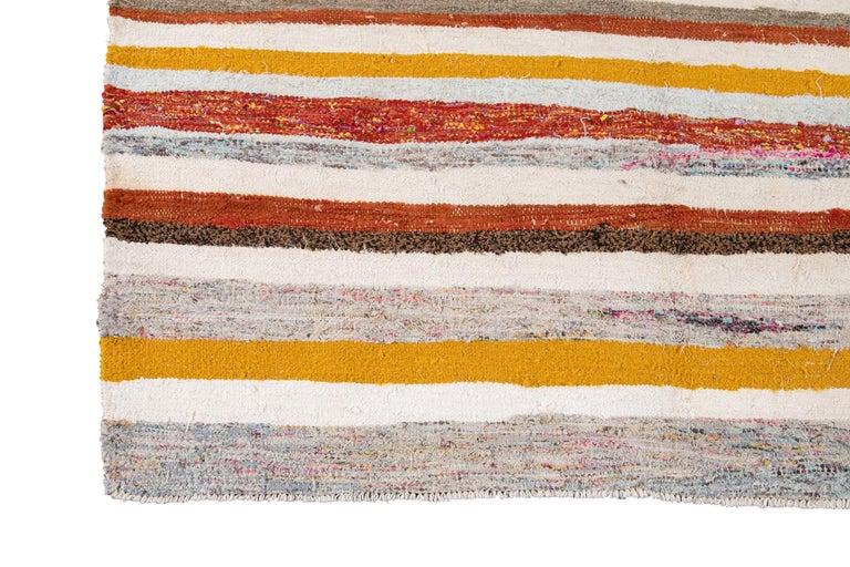 Mid-20th Century Vintage Kilim Wool Rug For Sale 5