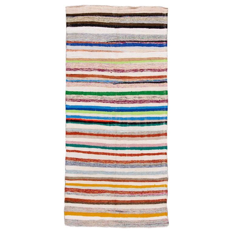Mid-20th Century Vintage Kilim Wool Rug For Sale