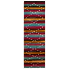 Mid-20th Century Vintage Kilim Wool Runner Rug