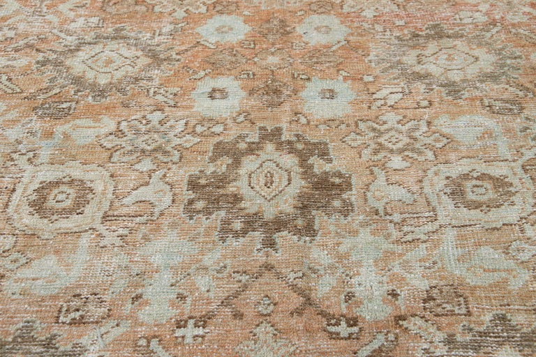 Mid-20th Century Vintage Mahal Wool Rug For Sale 7