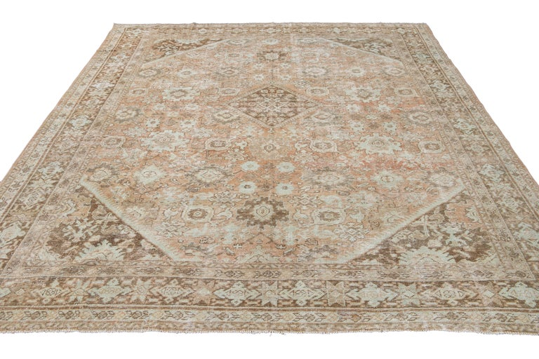 Mid-20th Century Vintage Mahal Wool Rug For Sale 13