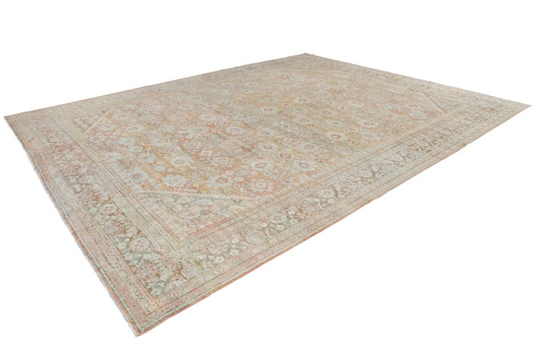 Mid-20th Century Vintage Mahal Wool Rug For Sale 14