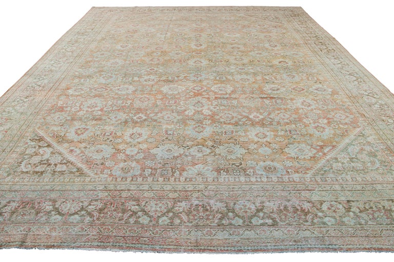 Mid-20th Century Vintage Mahal Wool Rug For Sale 15