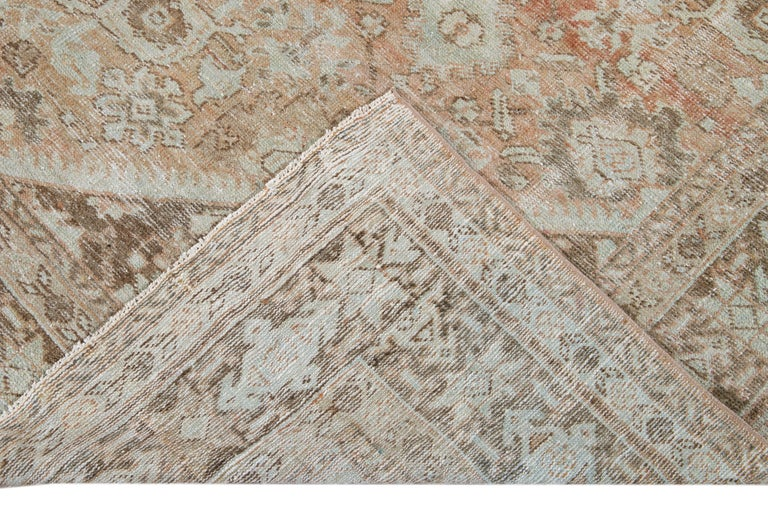 Hand-Knotted Mid-20th Century Vintage Mahal Wool Rug For Sale