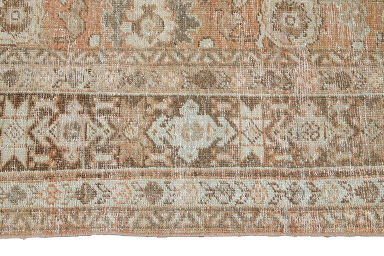 Mid-20th Century Vintage Mahal Wool Rug For Sale 3