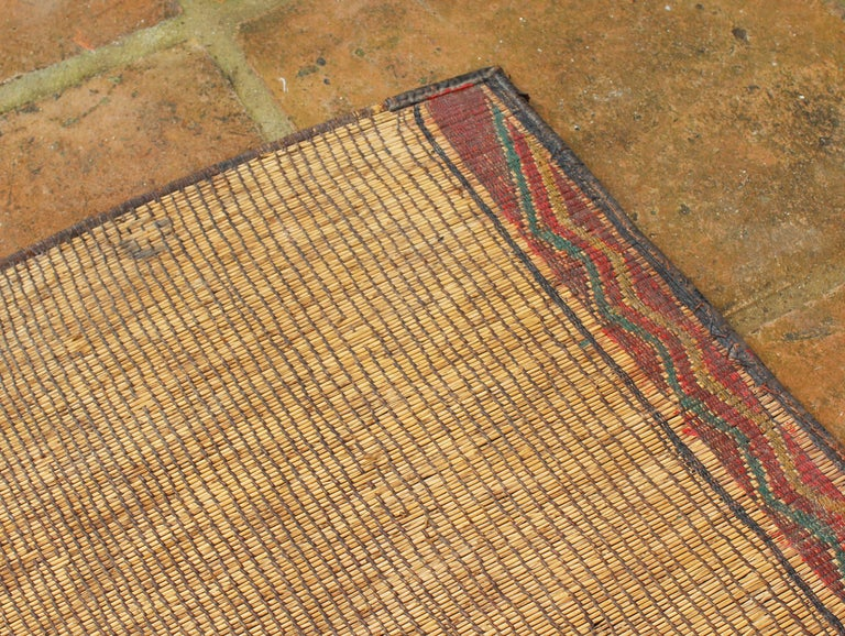 Mid-20th Century Vintage Moroccan Leather Tuareg Rug North Africa For Sale 7