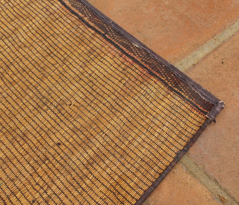 Mid-20th Century Vintage Moroccan Leather Tuareg Rug North Africa For Sale 8
