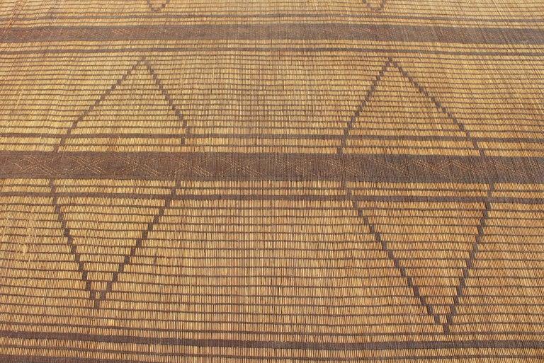 Mid-20th Century Vintage Moroccan Leather Tuareg Rug, North Africa 2
