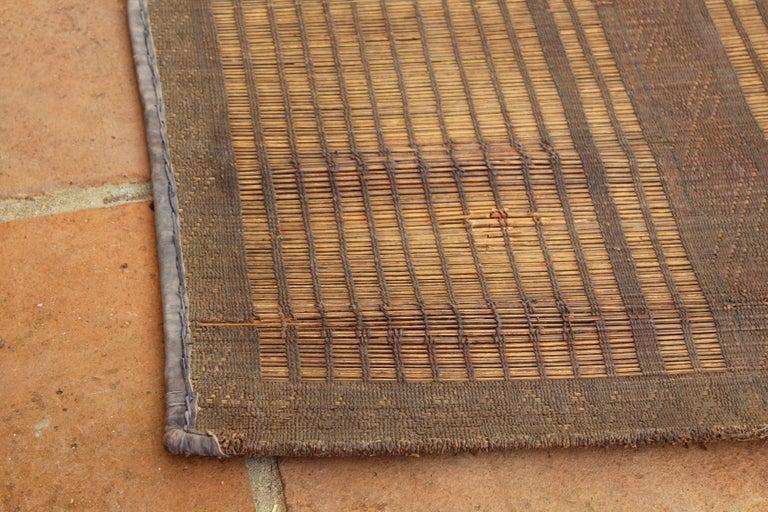 Mid-20th Century Vintage Moroccan Leather Tuareg Rug, North Africa 5