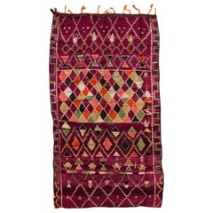 Mid-20th Century Vintage Multicolored Moroccan Wool Rug
