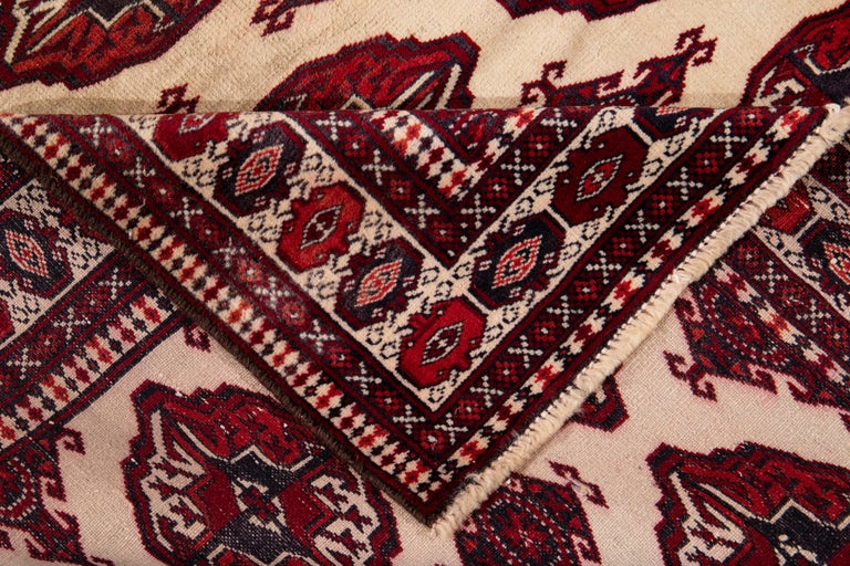 Mid-20th Century Vintage Overdyed Wool Rug For Sale 5