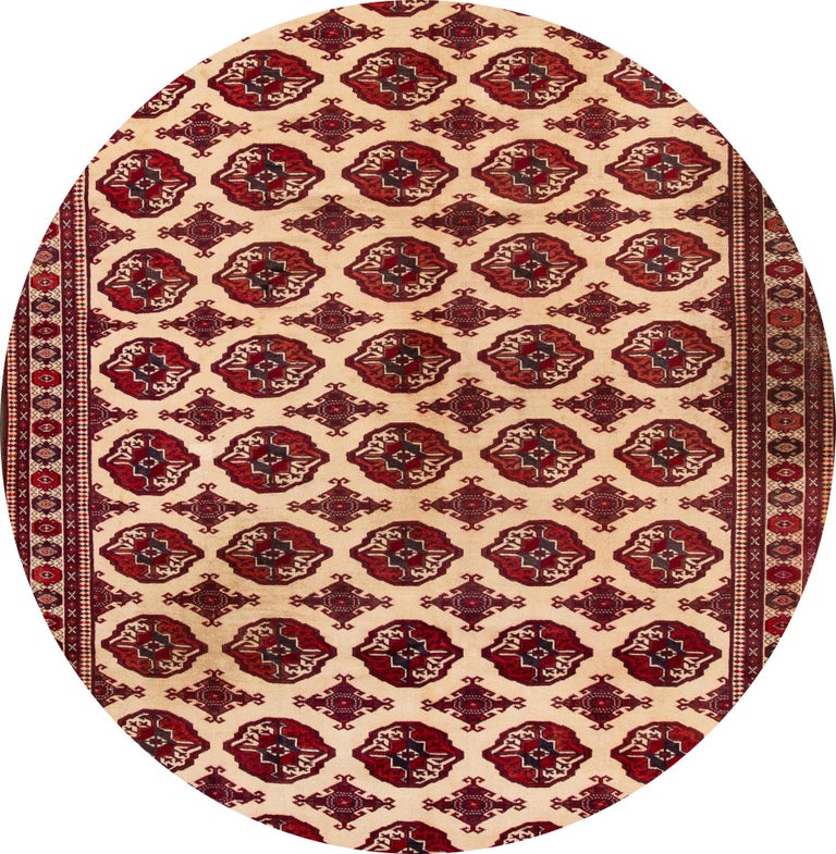 Mid-20th Century Vintage Overdyed Wool Rug For Sale 8