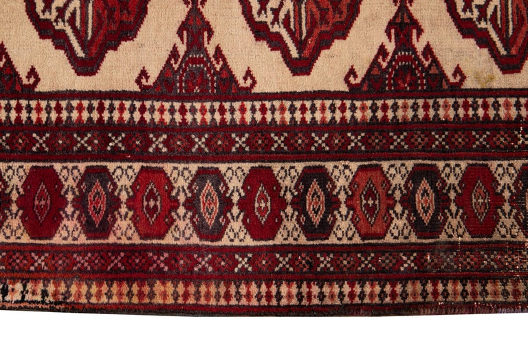 Hand-Knotted Mid-20th Century Vintage Overdyed Wool Rug For Sale