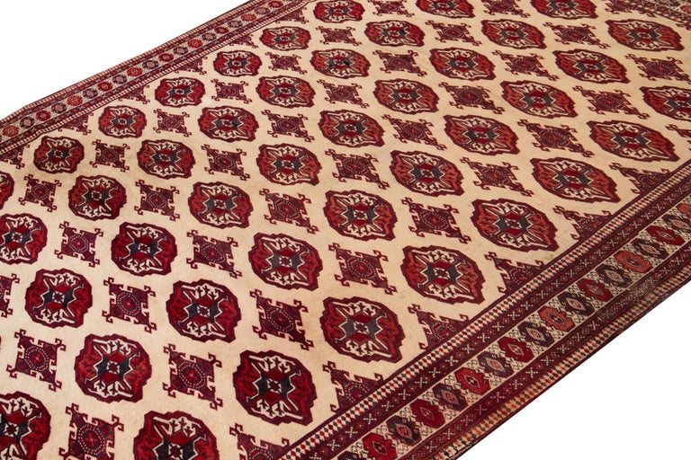 Mid-20th Century Vintage Overdyed Wool Rug For Sale 1