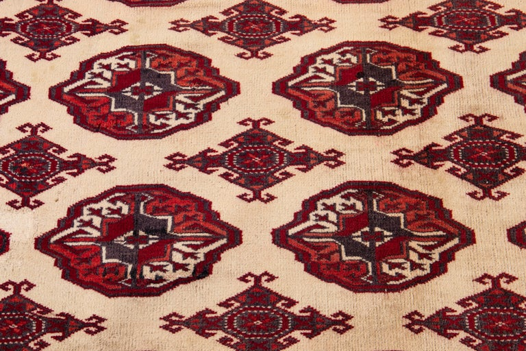 Mid-20th Century Vintage Overdyed Wool Rug For Sale 3