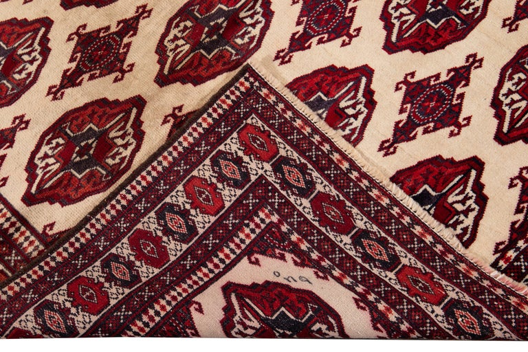 Mid-20th Century Vintage Overdyed Wool Rug For Sale 4