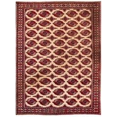 Mid-20th Century Vintage Overdyed Wool Rug