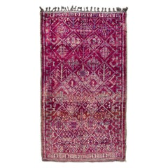 Mid-20th Century Vintage Purple Tribal Moroccan Rug