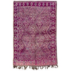 Mid-20th Century Vintage Purple Tribal Moroccan Wool Rug
