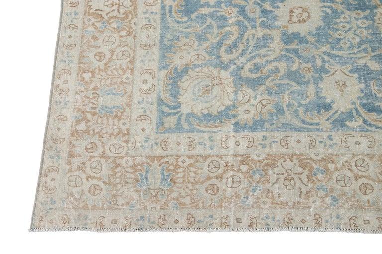 Mid-20th Century Vintage Tabriz Wool Rug For Sale 5