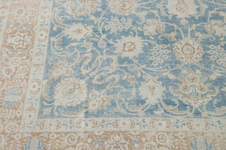 Mid-20th Century Vintage Tabriz Wool Rug For Sale 6