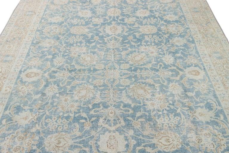 Mid-20th Century Vintage Tabriz Wool Rug For Sale 8