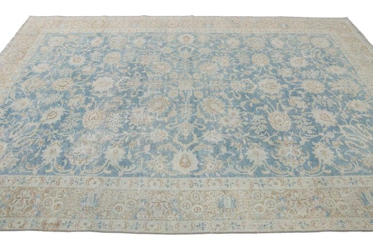 Mid-20th Century Vintage Tabriz Wool Rug For Sale 11