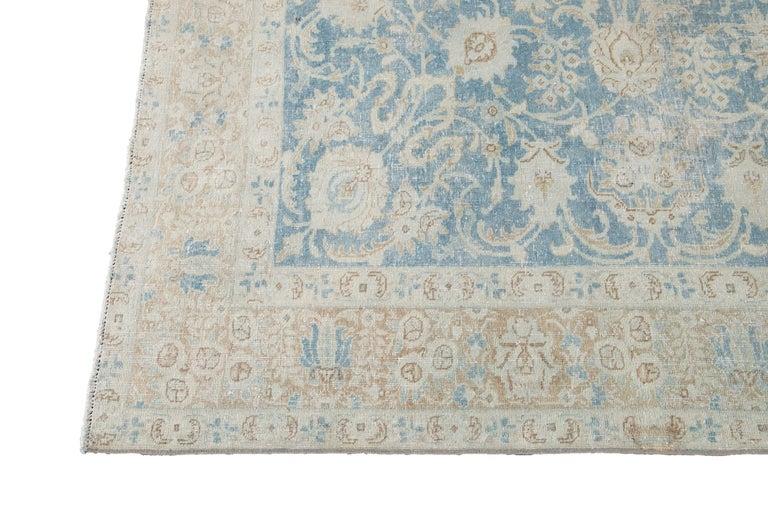 Mid-20th Century Vintage Tabriz Wool Rug For Sale 1