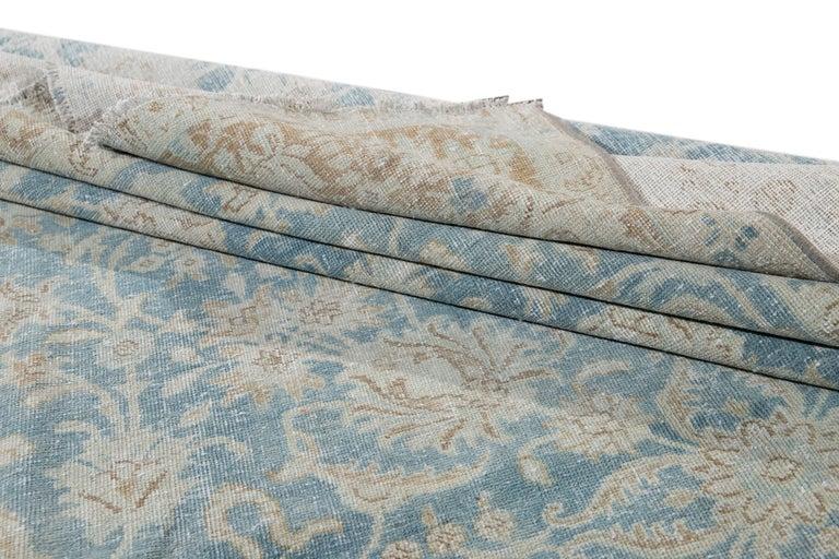 Mid-20th Century Vintage Tabriz Wool Rug For Sale 2