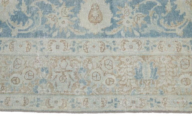 Mid-20th Century Vintage Tabriz Wool Rug For Sale 3