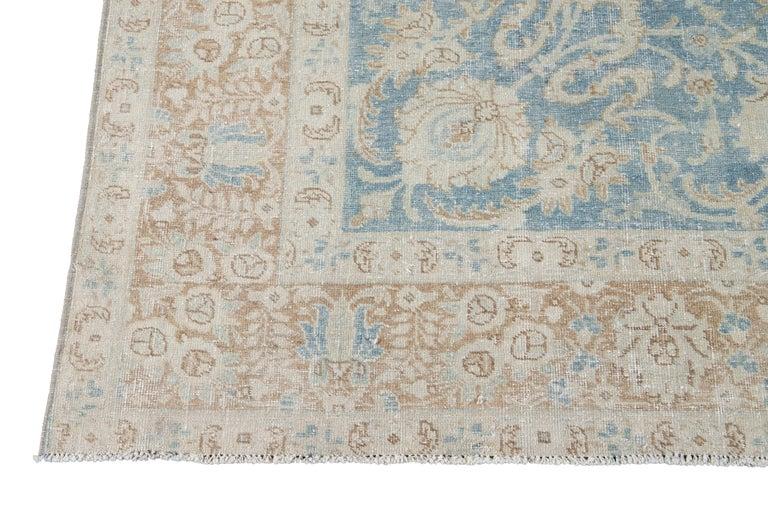 Mid-20th Century Vintage Tabriz Wool Rug For Sale 4