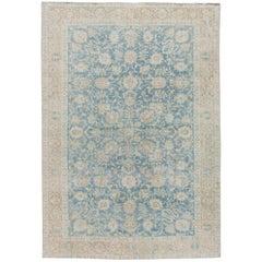 Mid-20th Century Vintage Tabriz Wool Rug