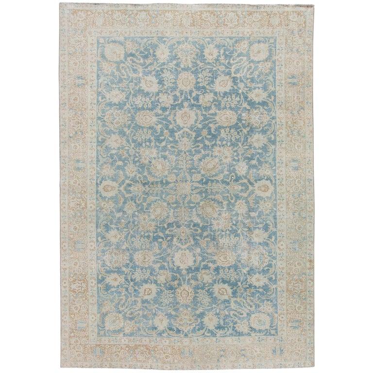 Mid-20th Century Vintage Tabriz Wool Rug For Sale