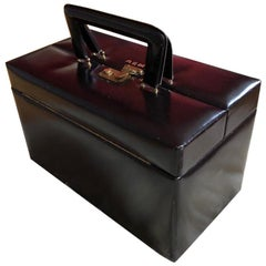 Mid-20th Century Vintage Travelling Leather Vanity Case, 1960-1970 by Asprey