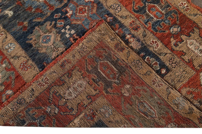 Hand-Knotted Mid-20th Century Vintage Tribal Bakshaish Rug For Sale