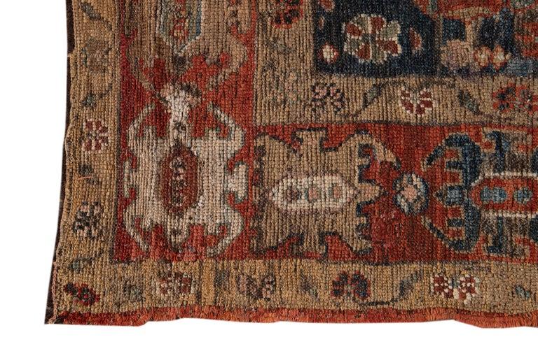 Wool Mid-20th Century Vintage Tribal Bakshaish Rug For Sale