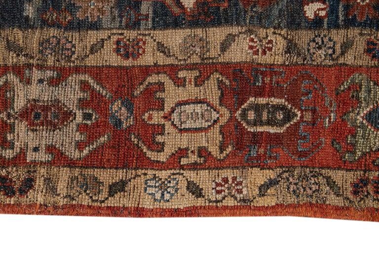 Mid-20th Century Vintage Tribal Bakshaish Rug For Sale 1