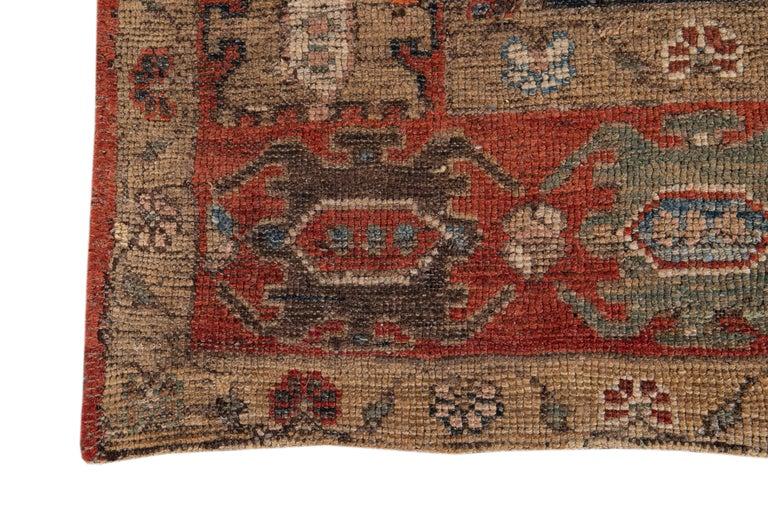 Mid-20th Century Vintage Tribal Bakshaish Rug For Sale 2