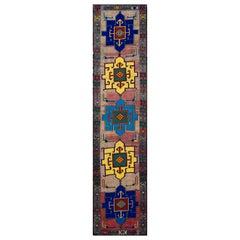 Mid-20th Century Vintage Turkish Wool Runner Rug