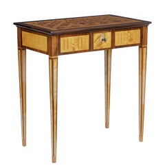 Mid-20th Century Walnut and Satinwood Side Table